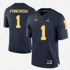 Michigan Wolverines #1 Devin Funchess Navy Blue College Football Jersey