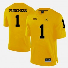 Michigan Wolverines #1 Devin Funchess Yellow College Football Jersey