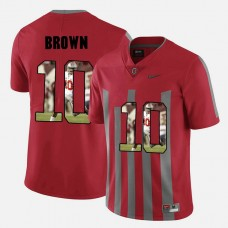 Ohio State Buckeyes #10 CaCorey Brown Red College Football Jersey