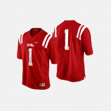 Ole Miss Rebels #1 Cardinal College Football Jersey