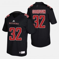 Rutgers Scarlet Knights #32 Justin Goodwin Black College Football Jersey