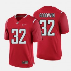 Rutgers Scarlet Knights #32 Justin Goodwin Red College Football Jersey