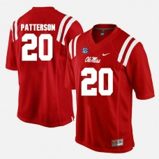 Ole Miss Rebels #20 Shea Patterson Red College Football GAME Jersey