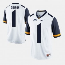 West Virginia Mountaineers #1 Shelton Gibson White College Football GAME Jersey
