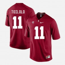 Stanford Cardinal #11 Levine Toilolo Cardinal College Football Jersey