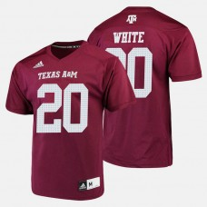 Texas A&M Aggies #20 James White Maroon College Football Jersey