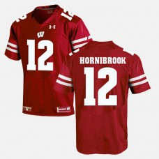 Wisconsin Badgers #12 Alex Hornibrook Red College Football GAME Jersey