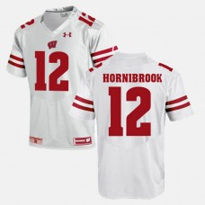 Wisconsin Badgers #12 Alex Hornibrook White College Football GAME Jersey